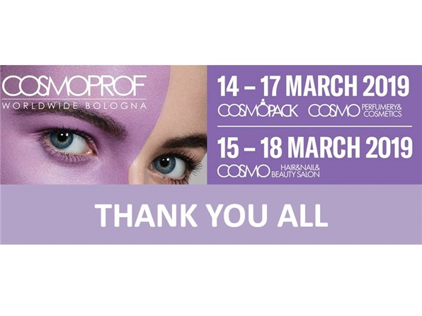 COSMOPROF 2019: thank you all!
